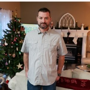 Mens button up casual shirt